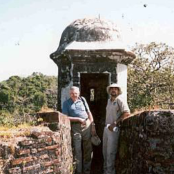 Two pirates: I am on the left with Jose, EcoCircuitos guide, on the right