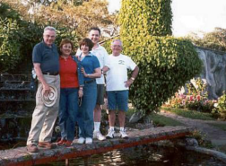 L-R: Louie, cousins Teresita and Judith with husband Robin and Gene.