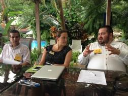 Participants exchanging ideas
