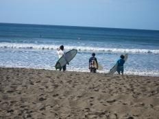 Surfers in Panama
