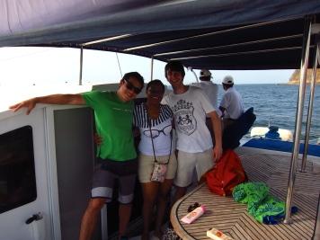 Fabio, Laura y Marc
