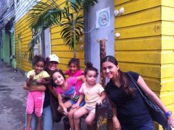 Annie Young & Mabel Barría with the kids of San Felipe