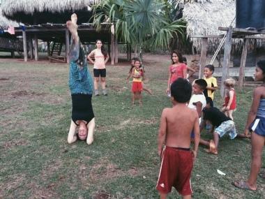 Visiting Darien Embera community